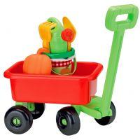 Ecoiffier E 0340 - Retro vozík s konvičkou a příslušenstvím