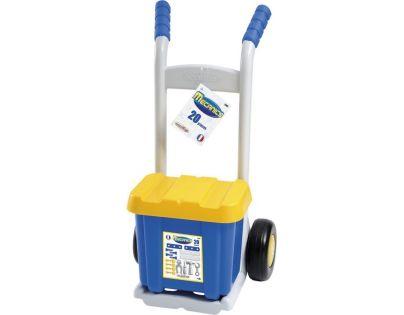 Ecoiffier 2481 - Rudl s boxem s nářadím, 20 doplňků, modro-šedý