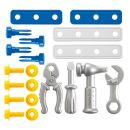Ecoiffier 2481 - Rudl s boxem s nářadím, 20 doplňků, modro-šedý 2