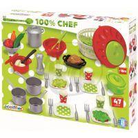 Ecoiffier E 2621 - Velká sada nádobí a jídla