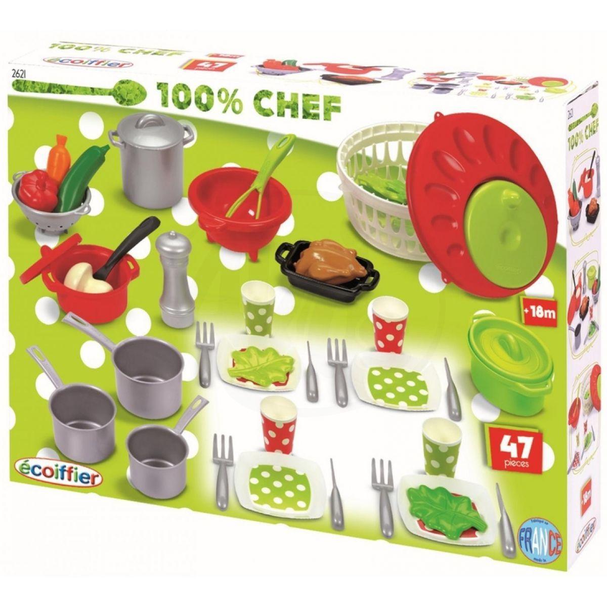 Ecoiffier Velká sada nádobí a jídla