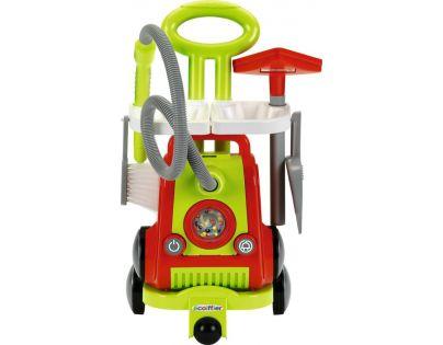 Ecoiffier Vozík pro uklízečku s vysavačem - Poškozený obal