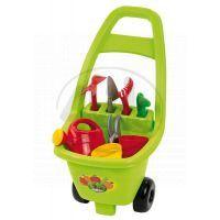 Ecoiffier 0479 - Zahradní vozík s nářadím, květináči a konvičkou