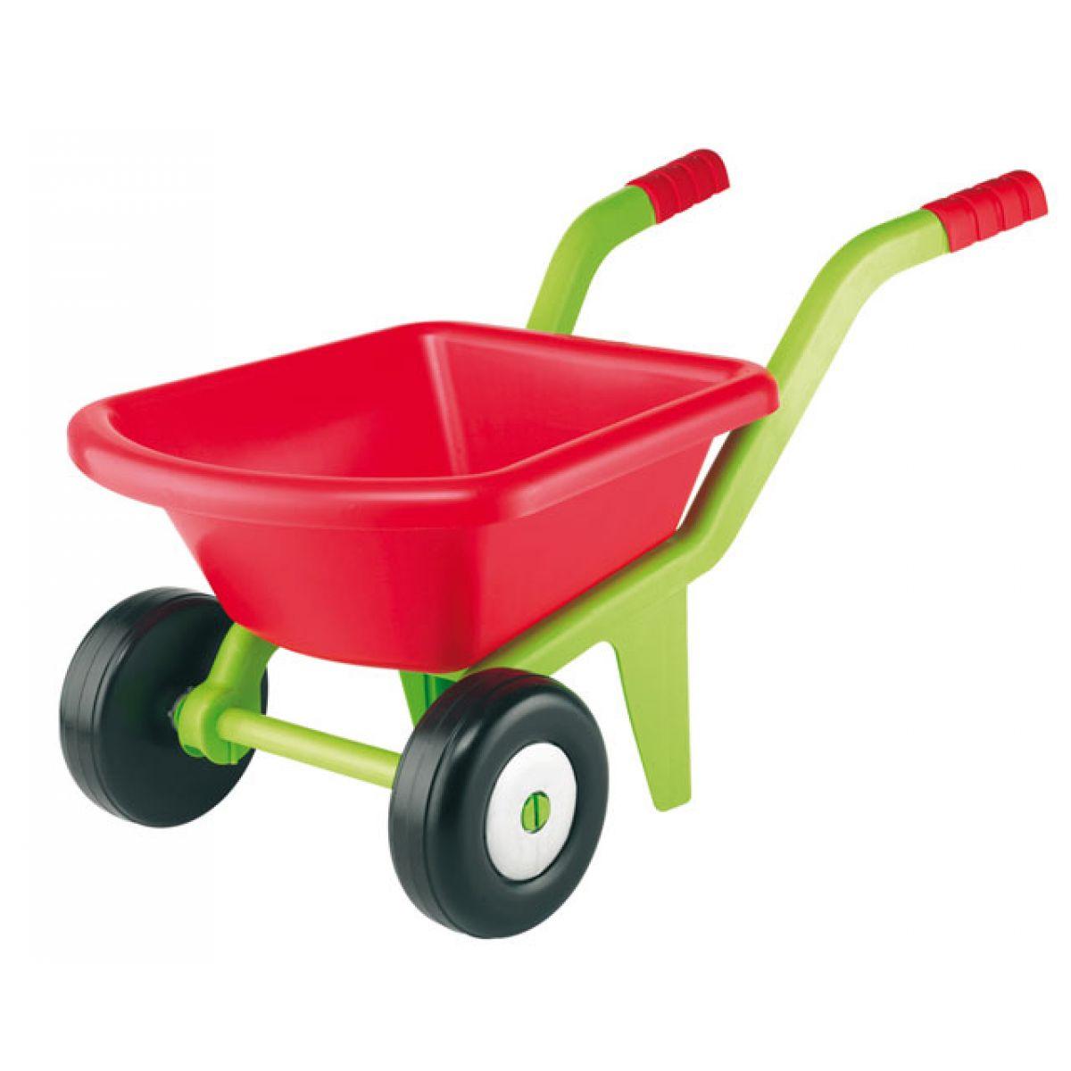Ecoiffier Zahradní kolečko se 2 kolečky červené