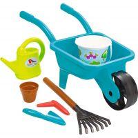 Ecoiffier Zahradní kolečko s konvičkou, kyblíčkem a příslušenstvím