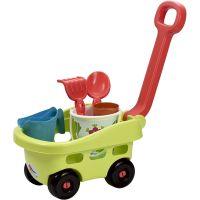 Ecoiffier Zahradní vozík s červeným madlem a příslušenstvím