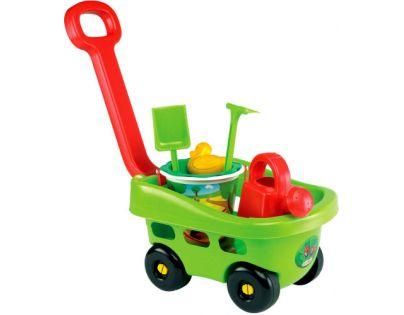 Ecoiffier 0344 - Zahradní vozík s kyblíčkem a příslušenstvím
