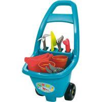 Ecoiffier Zahradní vozík s nářadím, s květináči a konvičkou