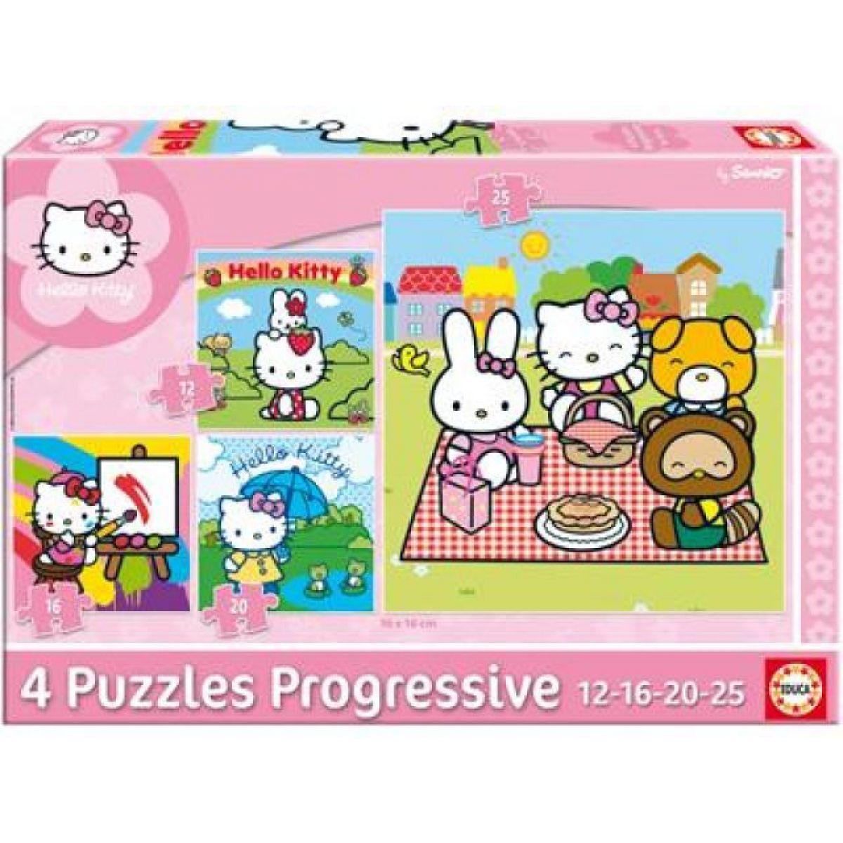 Puzzle Hello Kitty, čtyři motivy