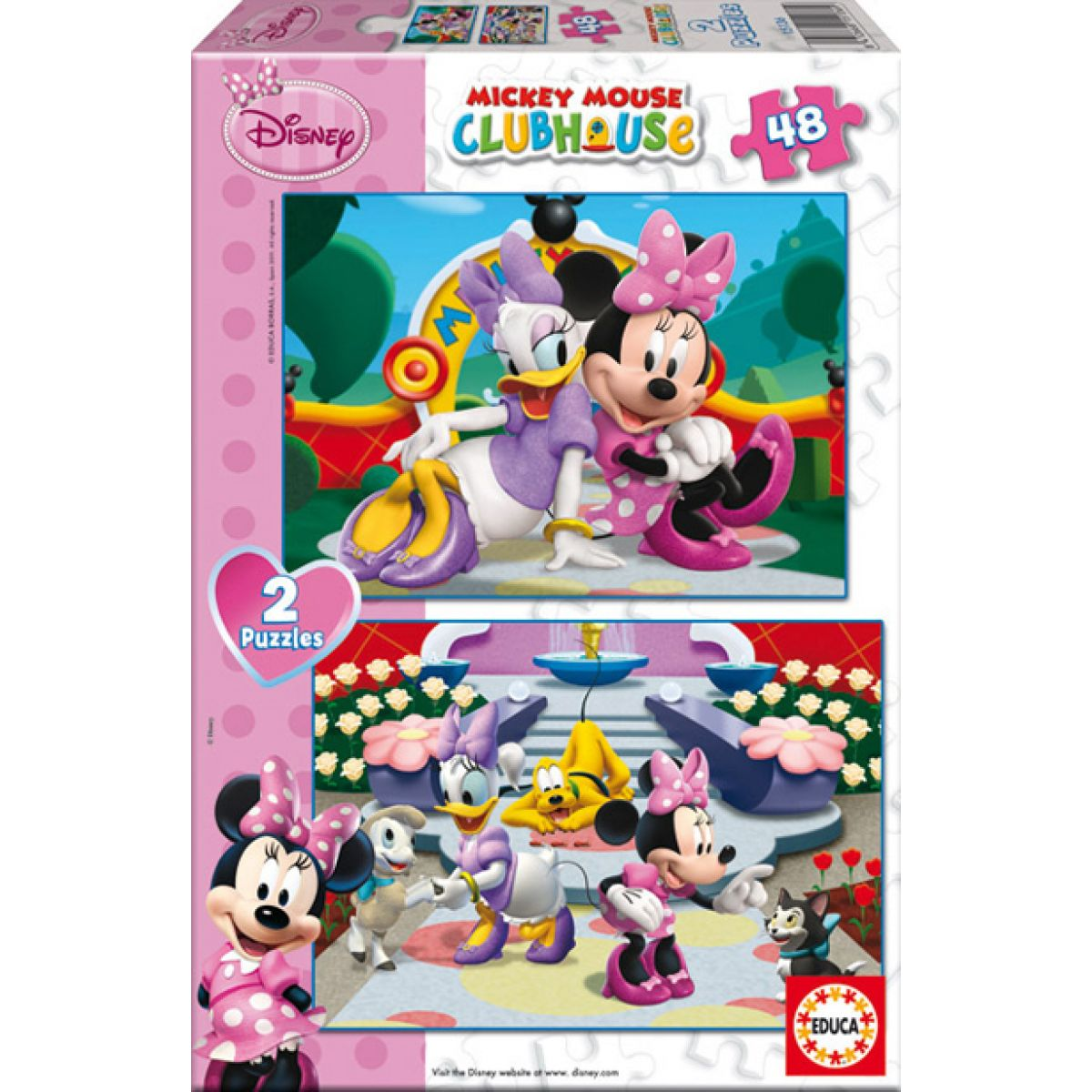 Educa Puzzle Minnie 2v1 48 dílků