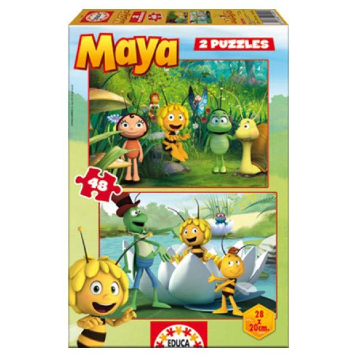 EDUCA 15090 - Puzzle Včelka Mája 2v1 48 dílků