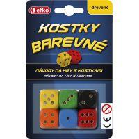 Efko Barvené hrací kostky dřevěné