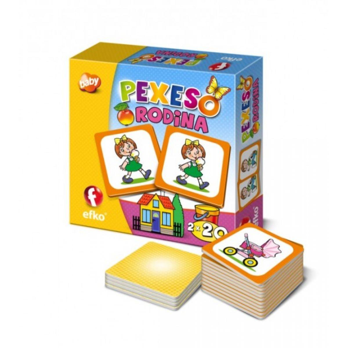 EFKO 54678 - Pexeso RODINA BABY