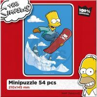 Efko Puzzle The Simpsons Bart na snowboardu