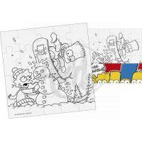 Efko Puzzle The Simpsons Vymaluj si čtverec