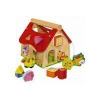 Eichhorn 2098 - Dřevěný veselý domeček - vkládačka 15ks