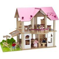 Eichhorn S 2513 - Dřevěný domeček pro panenky s nábytkem a panenkami