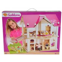 Eichhorn Dřevěná vila s nábytkem a panenkami 2