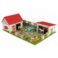 Dřevěná farma s 12 figurkami - Eichhorn 4308