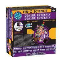 EIN-O Úžasné krystaly - fialový ametyst nebo bílý diamant