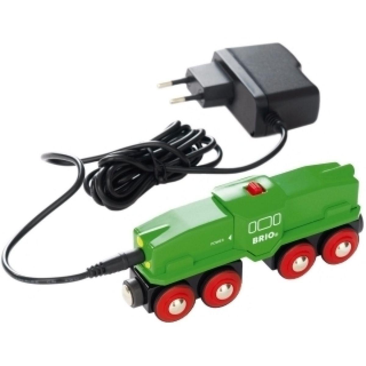 Elektrická lokomotiva s nabíječkou - zelená Brio