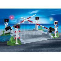 Železniční přejezd se závorami Playmobil