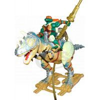 Želvy Ninja TMNT Super Dino 30 cm + figurka - Allosaurus - Poškozený obal