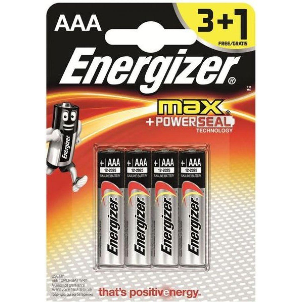Energizer Alkaline Power AAA 3+1pack