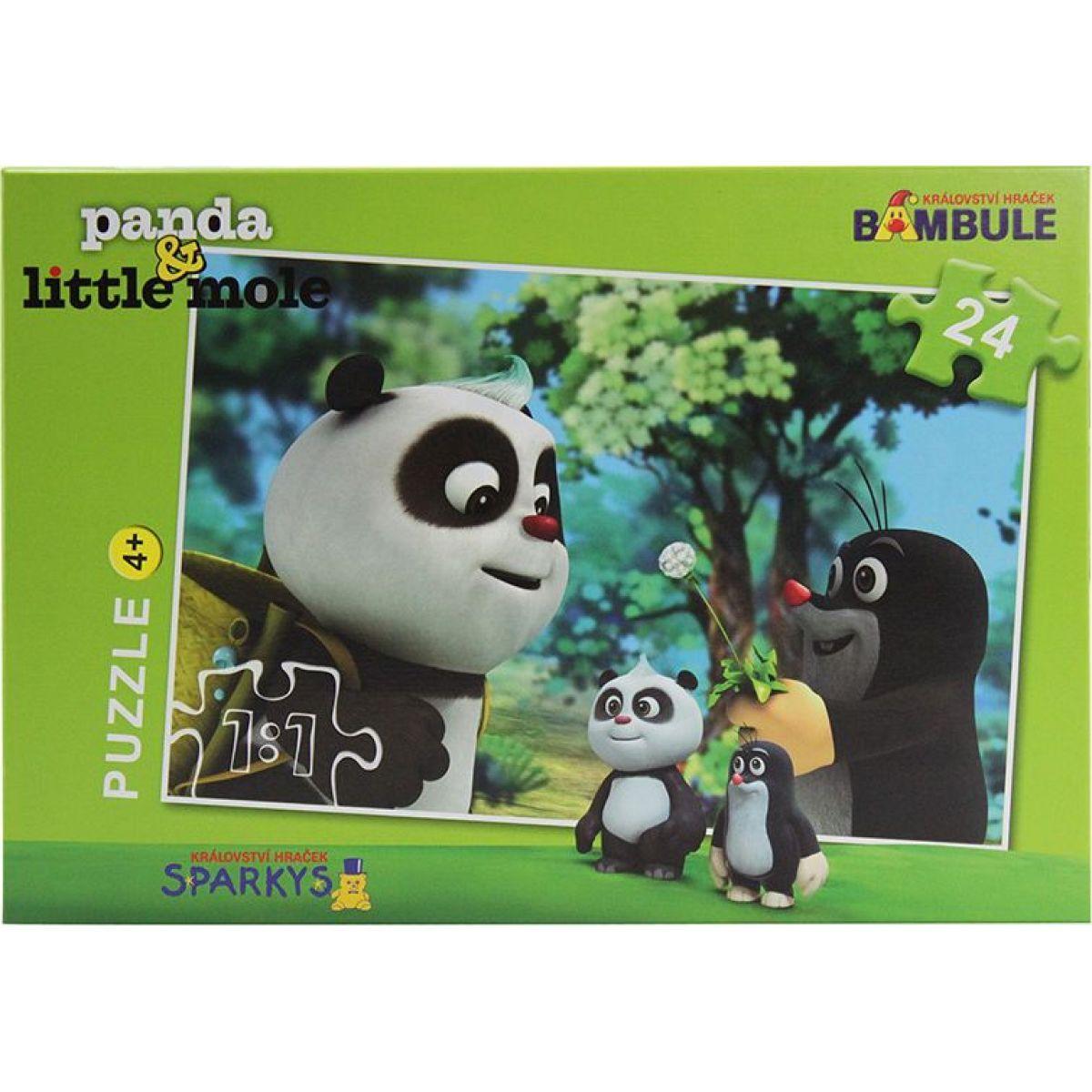EP Line Puzzle Krtek a Panda na výletě 24 dílků
