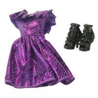 EP Line Šatičky pro panenky s doplňky fialové šaty
