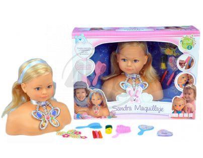 Sandra Maquillaje 690013 - Česací hlava Sandra 21cm v krabici