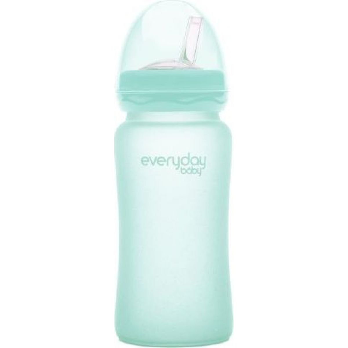 Everyday Baby Láhev sklo s brčkem 240ml mint green