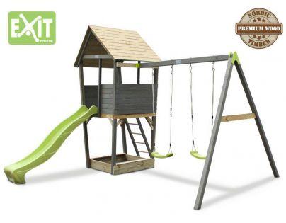 Exit Aksent Dřevěná věž se skluzavkou a houpačkami