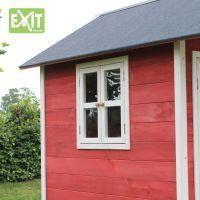 Exit Dřevěný domeček Loft 100 červený 4