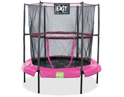 Exit Trampolína Bounzy Mini Pink s ochrannou sítí 140 cm