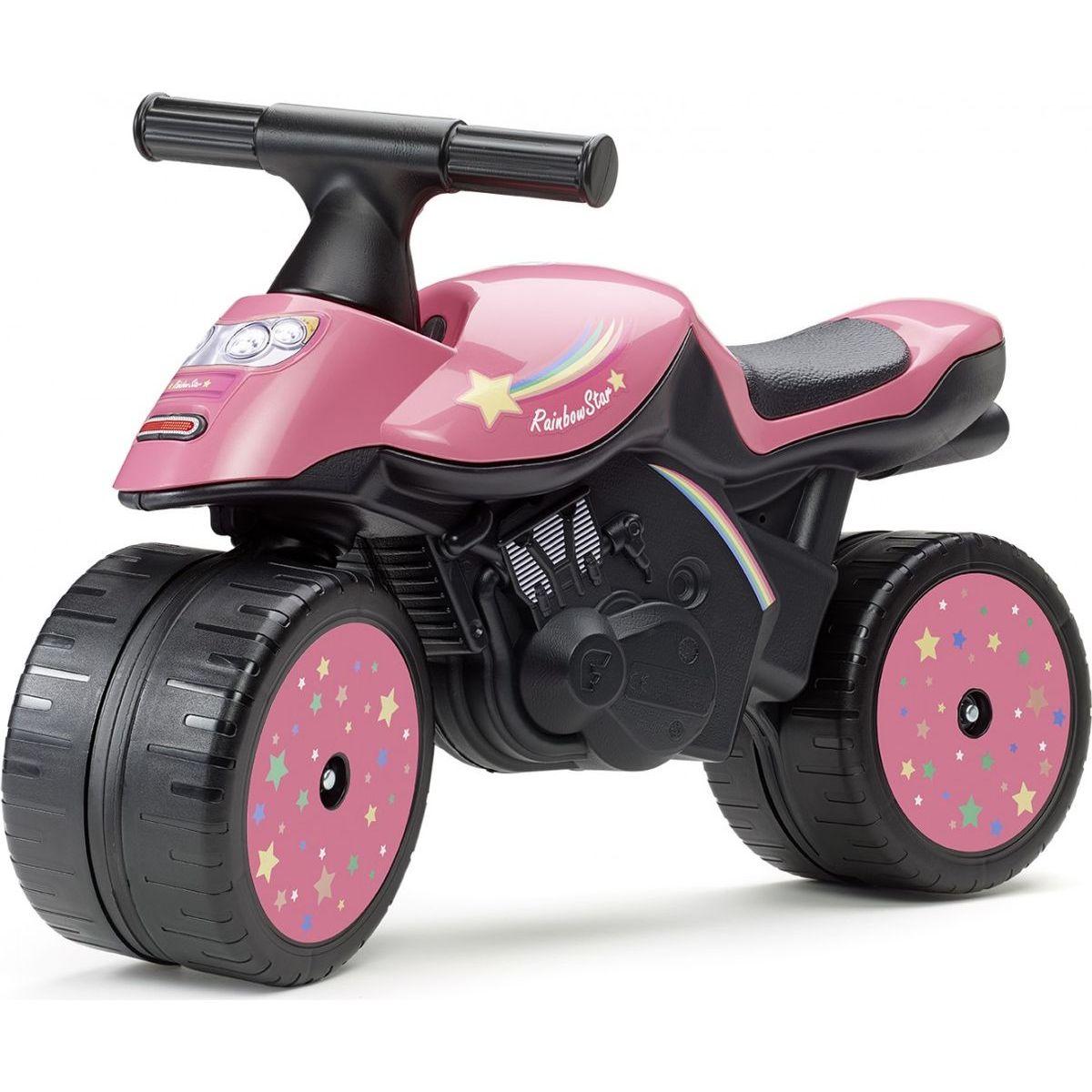 Falk Odstrkovadlo motorka růžová Rainbow star