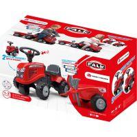 Falk Odstrkovadlo traktor Massey Ferguson červené, volant a valník 5