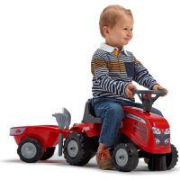 Falk Odstrkovadlo traktor Massey Ferguson červené, volant a valník 2