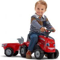 Falk Odstrkovadlo traktor Massey Ferguson červené, volant a valník 3
