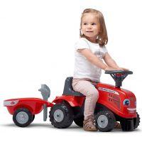Falk Odstrkovadlo traktor Massey Ferguson červené, volant a valník 4