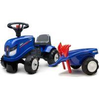 Falk Odstrkovadlo traktor modré s volantem a valníkem