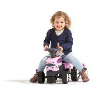 Falk Odstrkovadlo traktor Princess s valníkem růžové 2