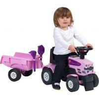 Falk Odstrkovadlo Traktor Princess s volantem a valníkem 4