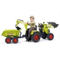 Falk Šlapací traktor Claas Axos s přední i zadní lžící 2