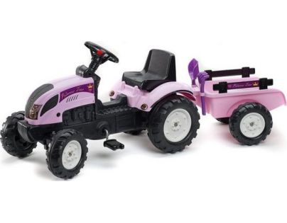 Falk Šlapací traktor Princess Ranch Trac s valníkem