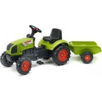 Falk Traktor Claas Arion 410 s valníkem zelený