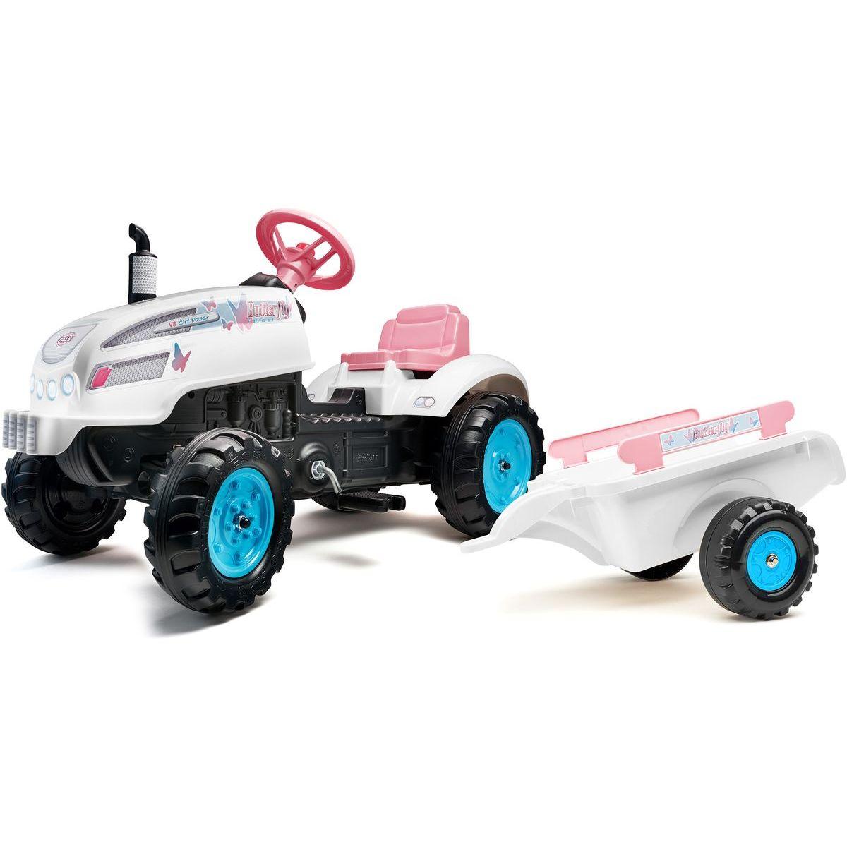 Falk Traktor šliapací Butterfly Farmer s prívesom