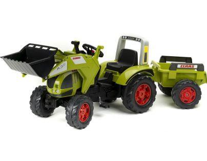 Falk Traktor šlapací Claas Arion 540 s přední lžící a valníkem