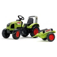 Falk Traktor šlapací Claas Axos 330 s valníkem zelený