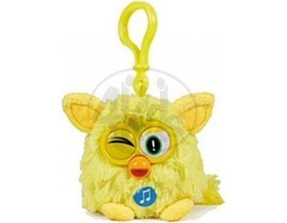 Famosa Furby přívěšek plyšový 9 cm se zvukem - Žlutý